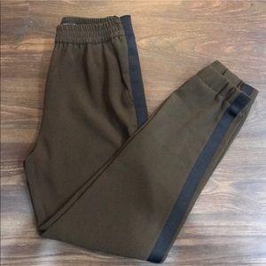Pants - Zara high waisted Olive green dressy joggers
